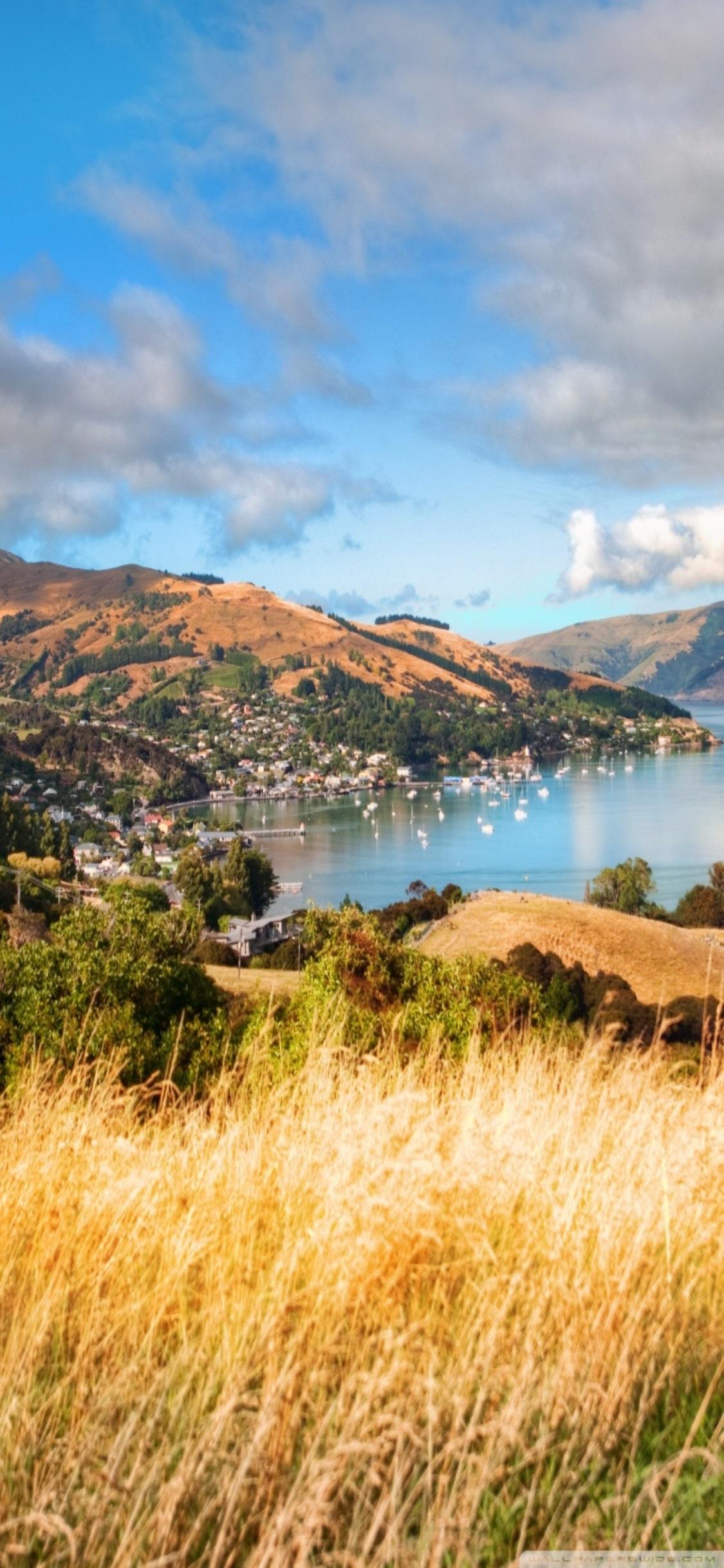 New Zealand Wallpaper For Iphone Akaroa New Zealand - New Zealand Iphone X , HD Wallpaper & Backgrounds