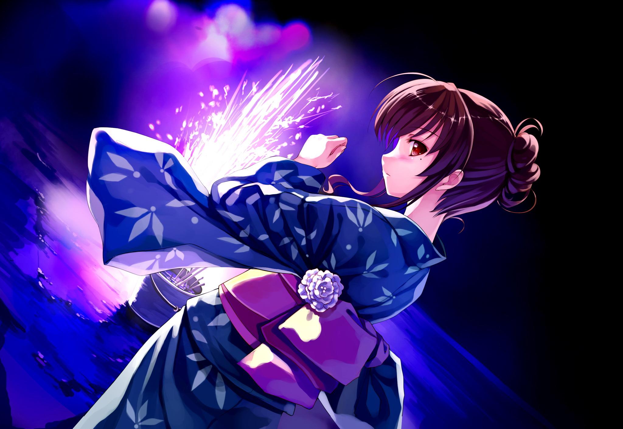 Deep Blue Sky Pure White Wings Wallpaper Hd Anime Girl