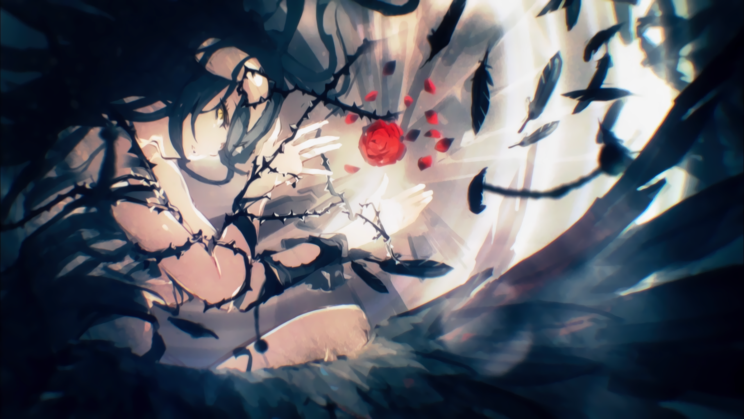 Overlord Albedo Overlord Anime Thorns Wallpaper Overlord 3 Ending Art 1742133 Hd Wallpaper Backgrounds Download