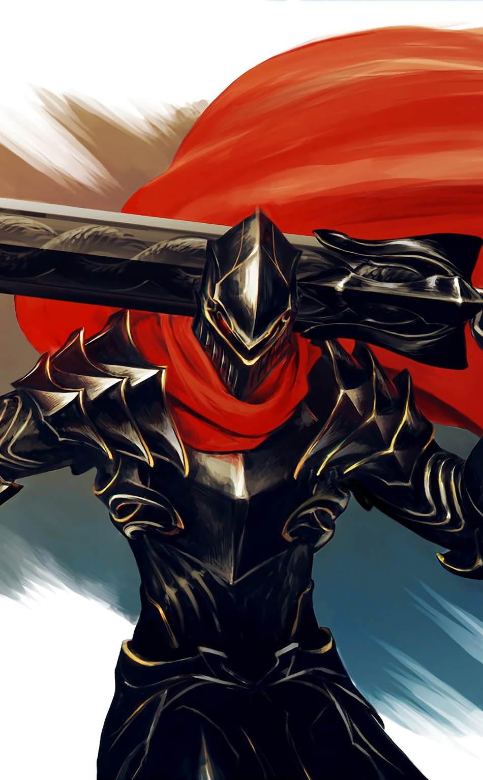 Armour Big Sword Warrior Overlord Anime Art Wallpaper Overlord Anime Wallpaper Iphone 1742166 Hd Wallpaper Backgrounds Download
