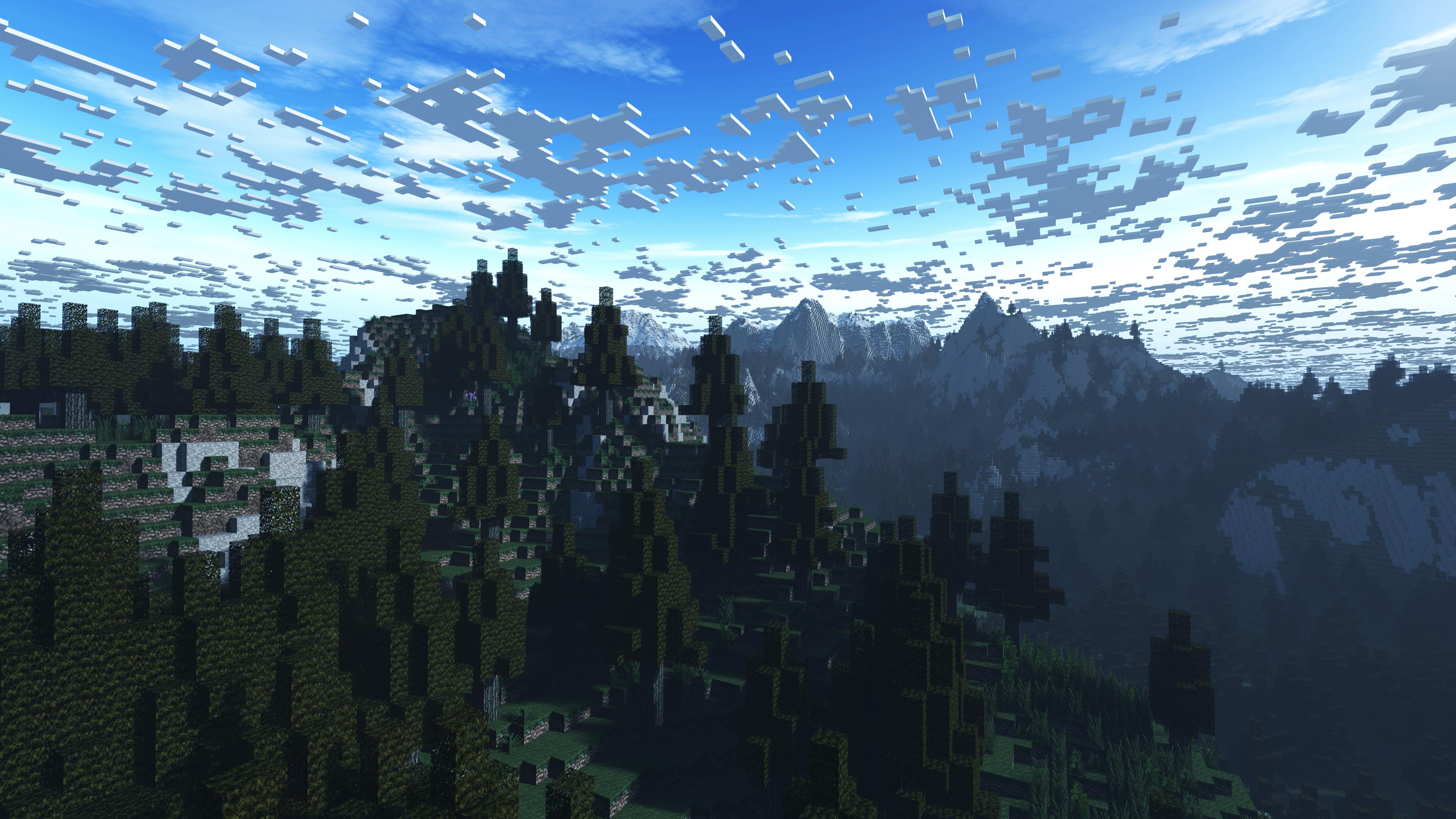 Snowy Minecraft Wallpaper