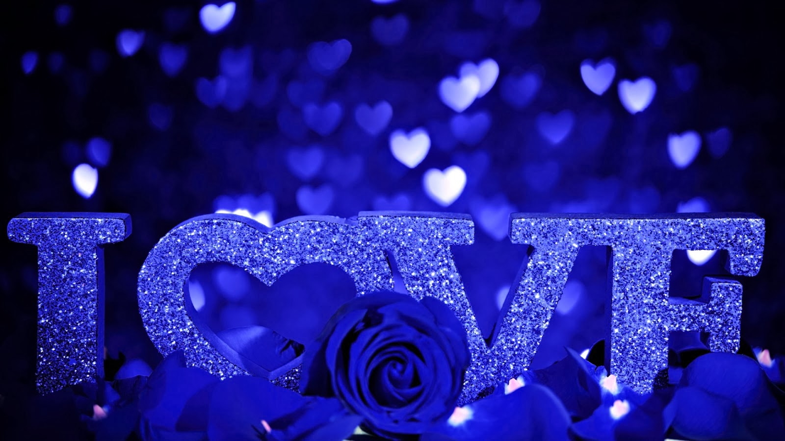Eletragesi Blue Rose I Love You Images - Red Rose With Love Message , HD Wallpaper & Backgrounds
