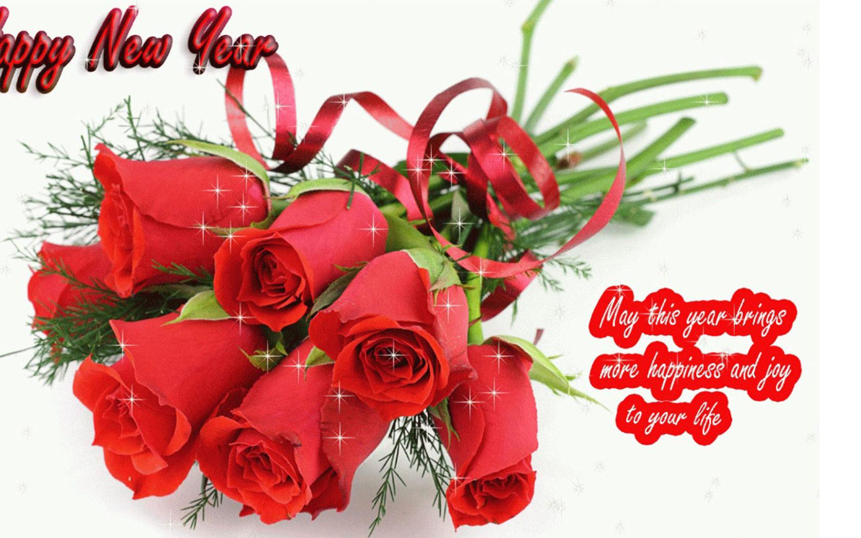 - - Happy New Year 2019 Flower , HD Wallpaper & Backgrounds