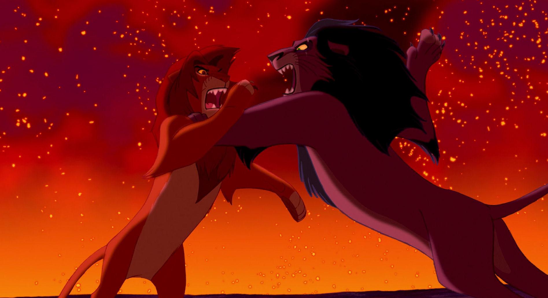 Movies, Scar, Simba, The Lion King, Wallpaper, Wallpapers - Lion King Scar Vs Simba , HD Wallpaper & Backgrounds
