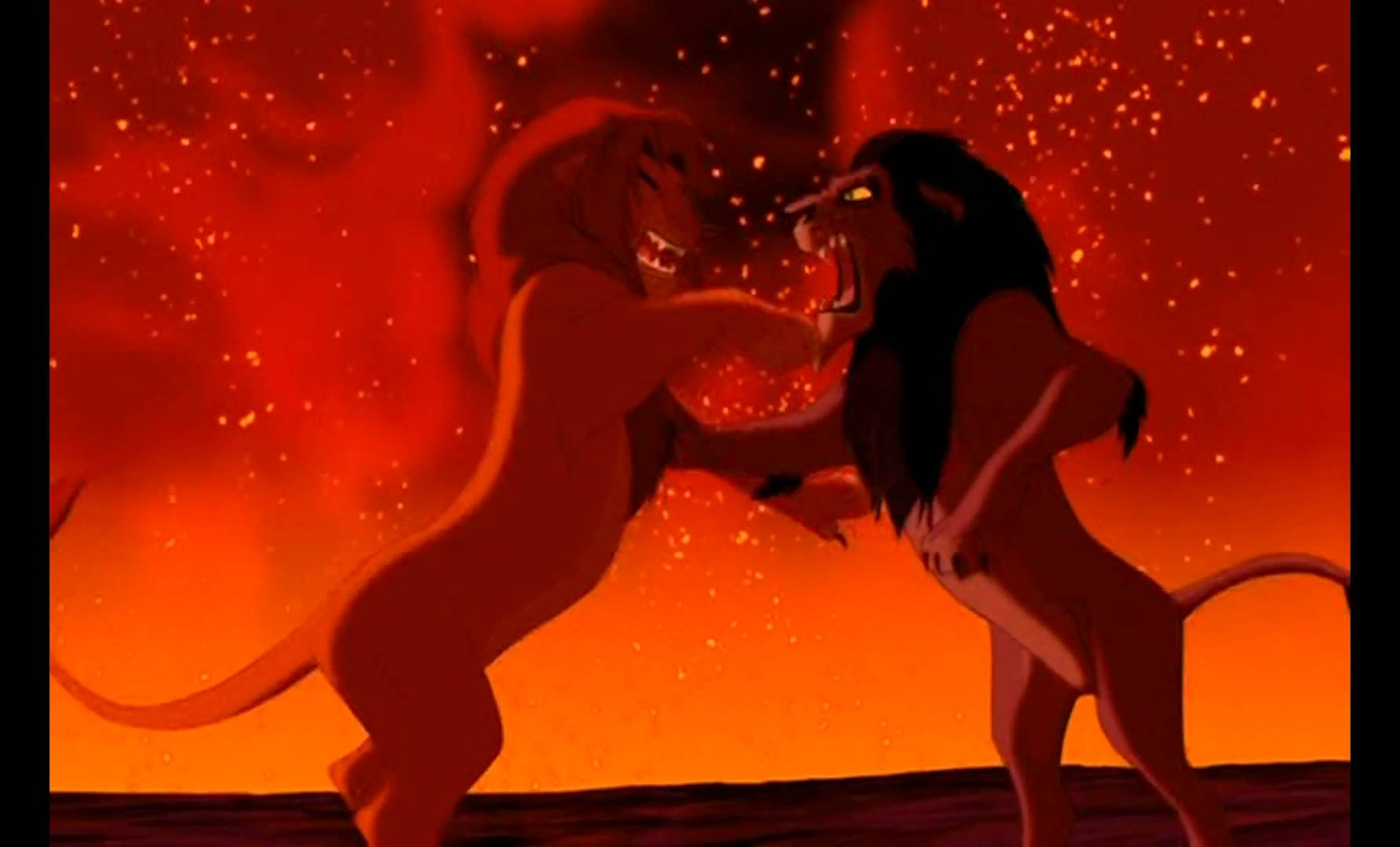 This Is The Fight Scene In The Movie Lion King By Far - Lion King Simba Vs Scar , HD Wallpaper & Backgrounds