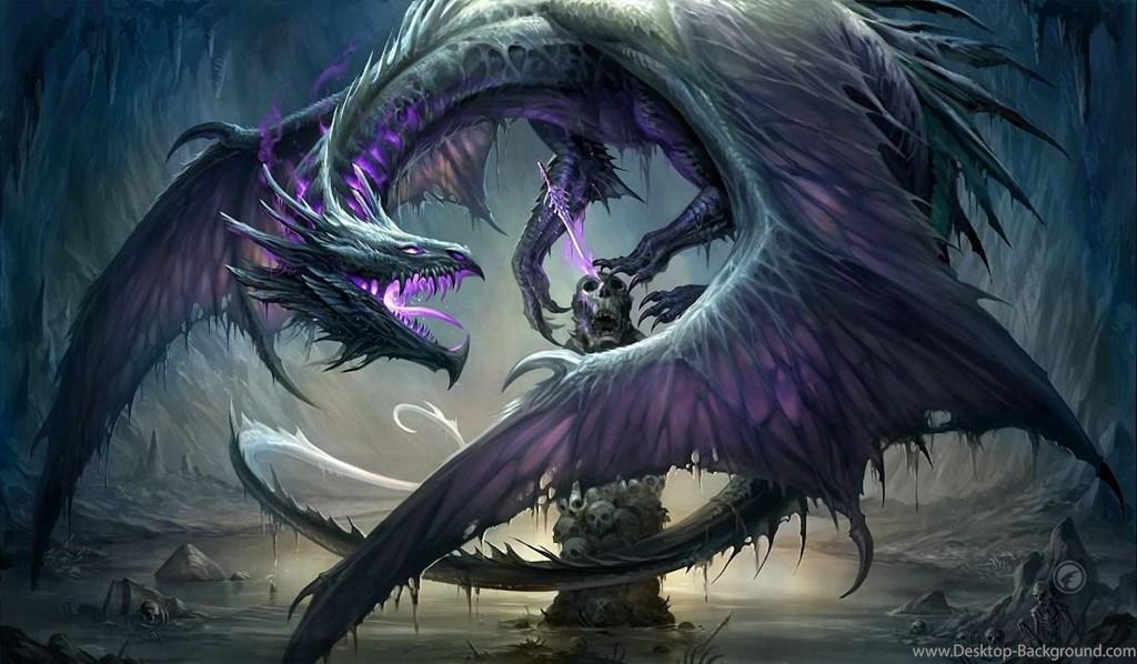 Dragon Wallpapers Hd Backgrounds Download Desktop Black And Purple Dragon 1755724 Hd Wallpaper Backgrounds Download