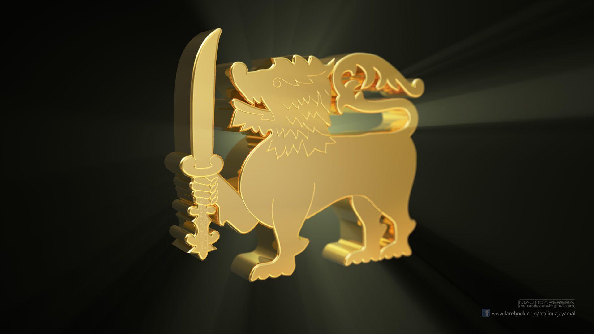 Golden Lion Hd Wallpaper 1080 By Malindaperera On - Sri Lanka Flag Lion , HD Wallpaper & Backgrounds