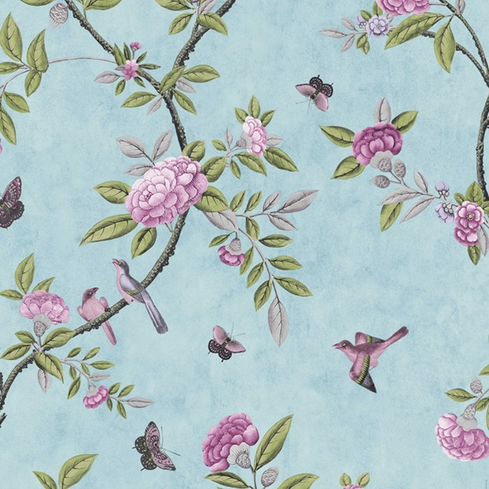 Schumacher Birds And Butterflies Wallpaper - V And A Patterns , HD Wallpaper & Backgrounds