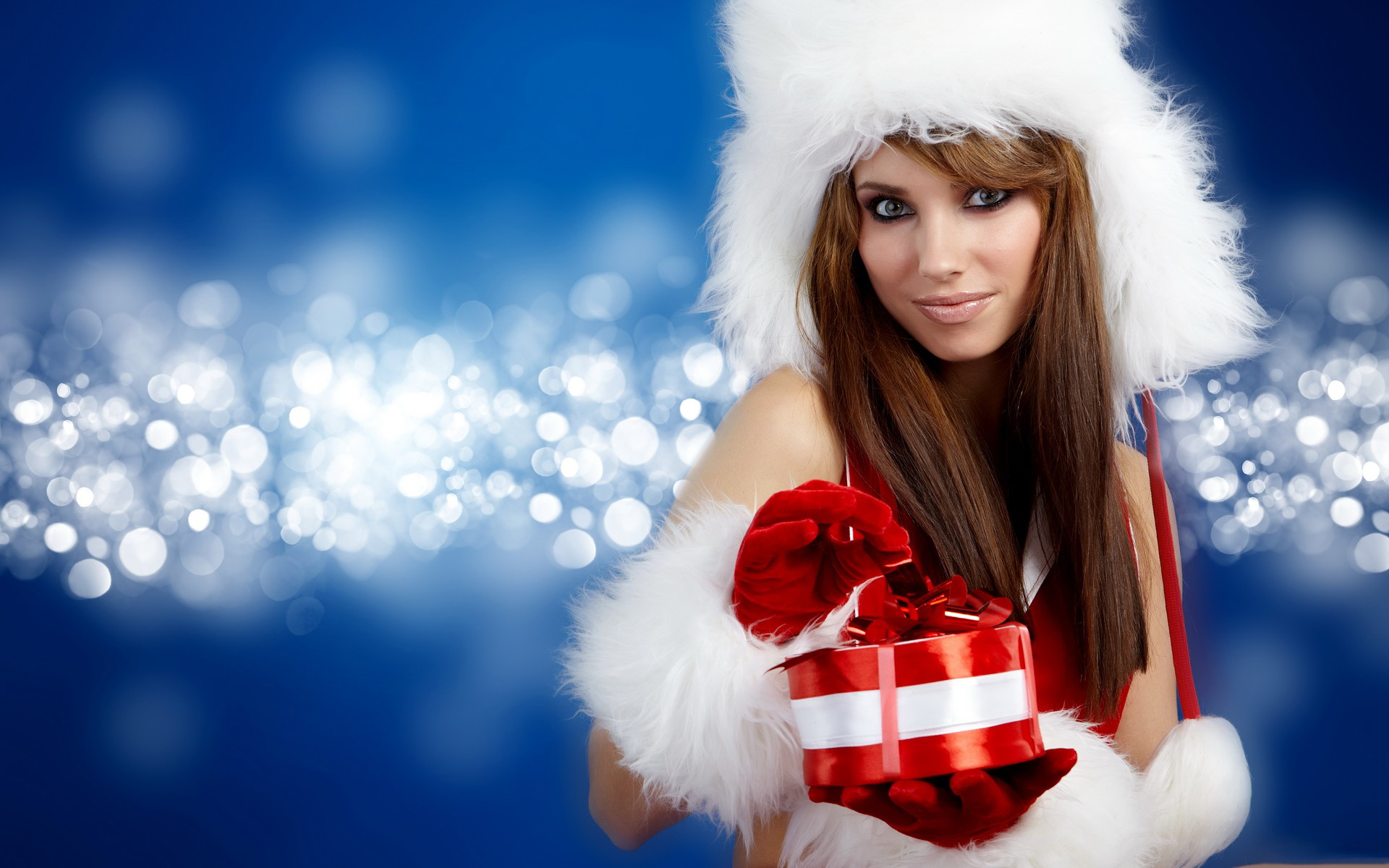 Christmas Girl High Definition Wallpaper - Merry Christmas Sexy Card , HD Wallpaper & Backgrounds