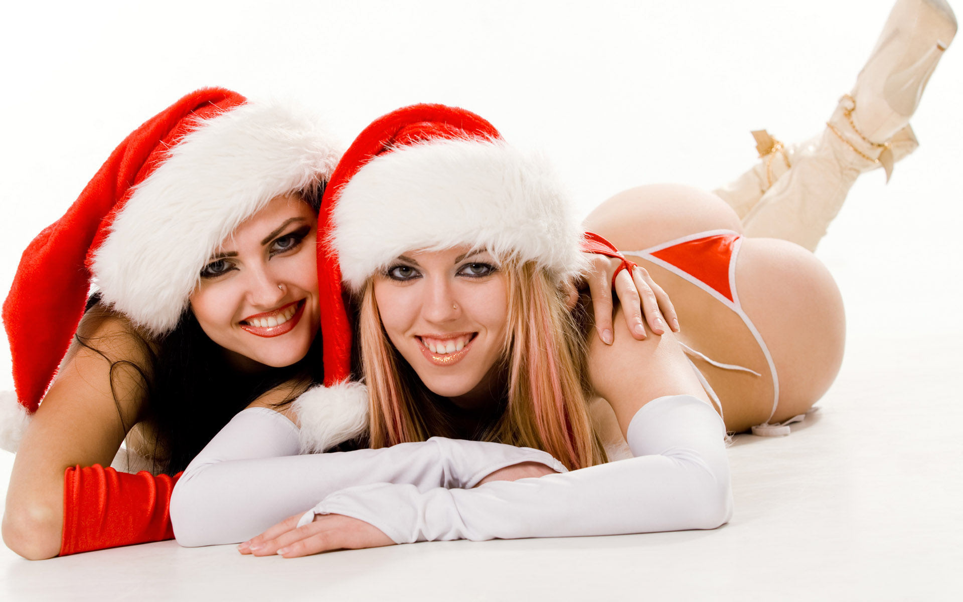High-definition Christmas Girl - Sexy Girls Christmas , HD Wallpaper & Backgrounds