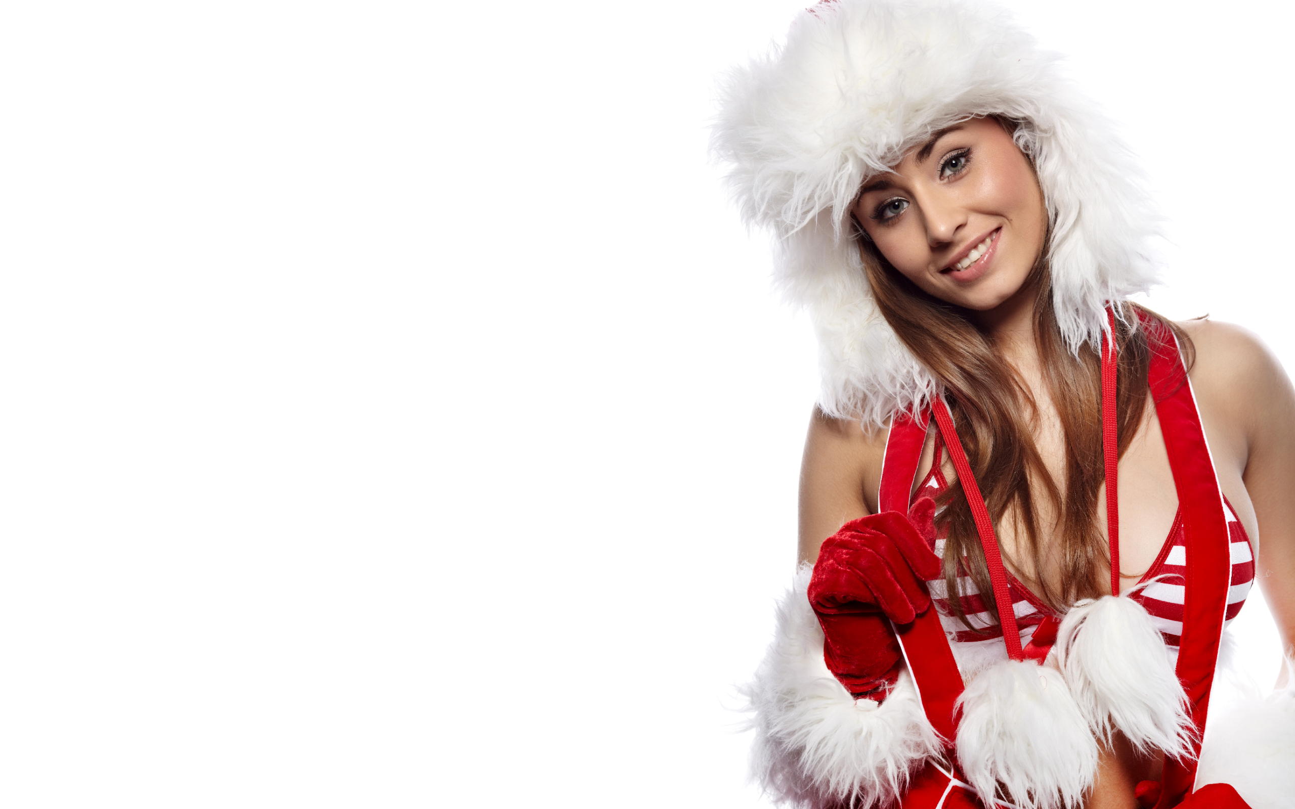 Hd Wallpapers Christmas And Happy New Year - Happy New Year Girl , HD Wallpaper & Backgrounds