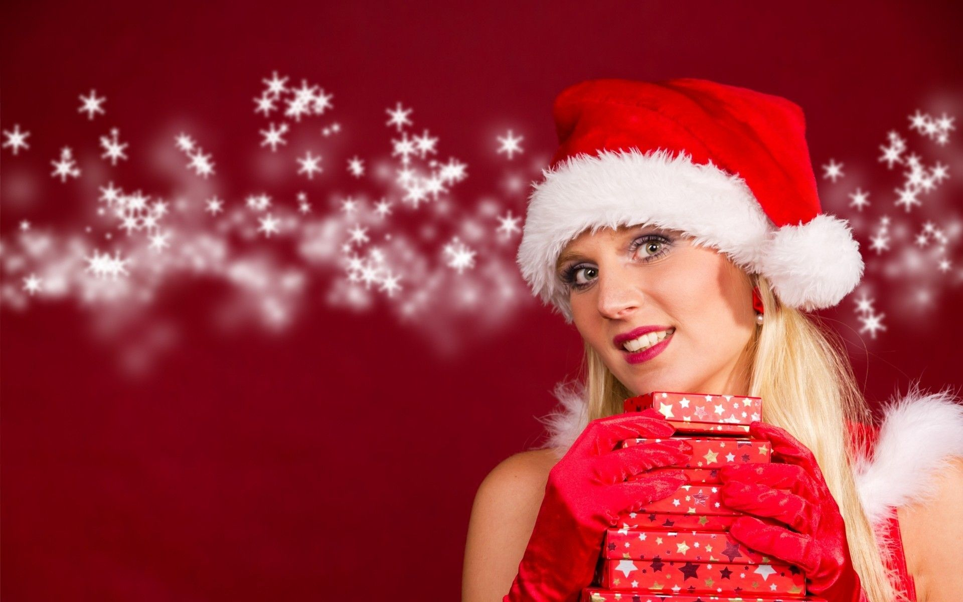 Christmas Girl Outfits Hd Wallpapers - Beautiful Christmas Santa Girl , HD Wallpaper & Backgrounds
