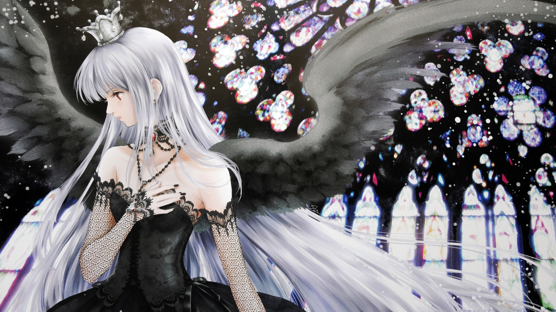 Anime Angels Wallpaper Beautiful Anime Dark Angel 1763692