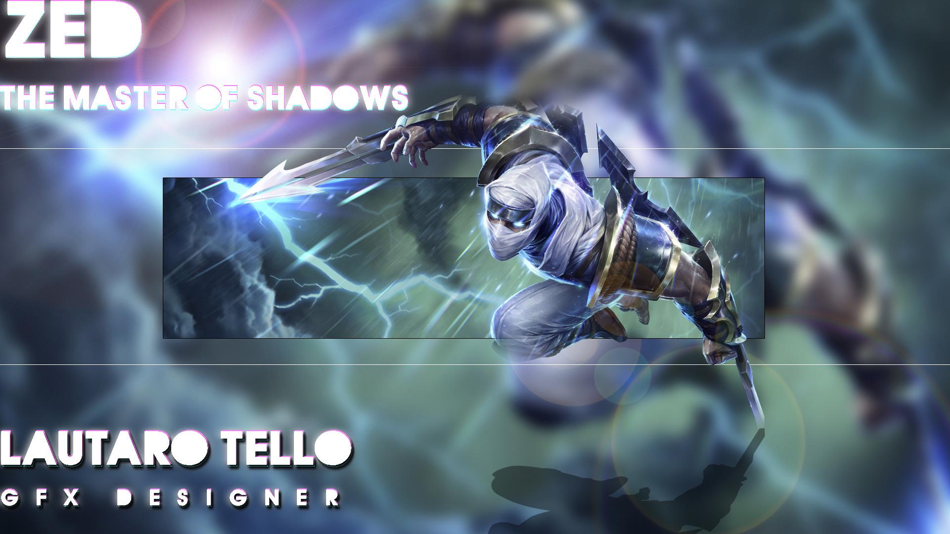 Shockblade Zed By Lautarot12 Hd Wallpaper Fan Art Artwork - League Of Legends , HD Wallpaper & Backgrounds