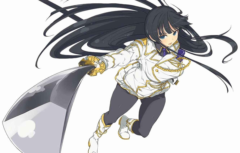 Photo Wallpaper Girl Sword Anime Brunette Art Kill La Kill
