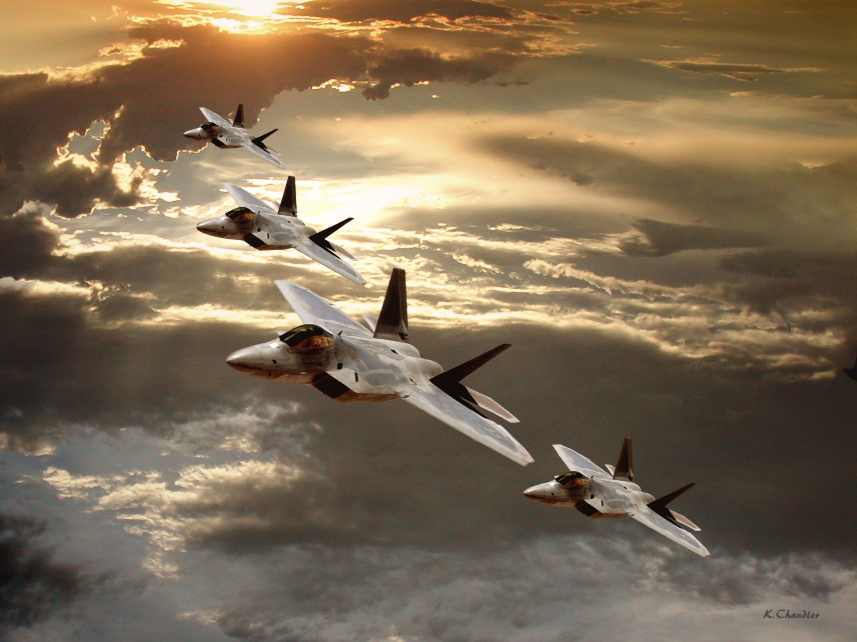 Us Air Force Wallpapers For Desktop F 22 Raptor Formation