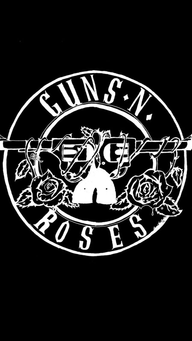 Black And White Pattern Iphone 5 Wallpapers - Gun N Roses Logo Hd , HD Wallpaper & Backgrounds