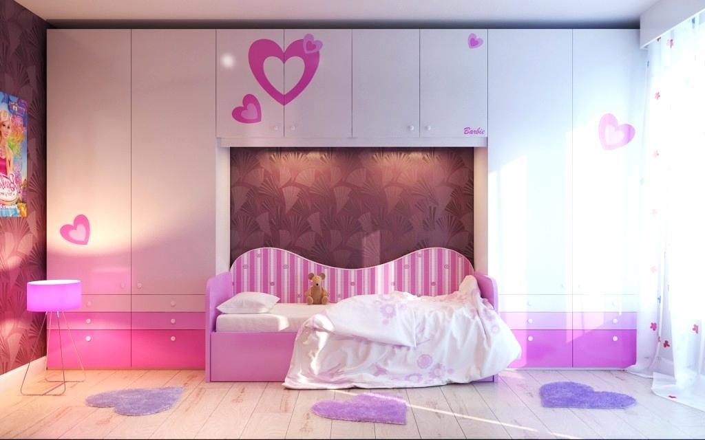 Shocking Pretty Wallpaper For Girls Bedroom Picture - Modern Girls Bedroom Design , HD Wallpaper & Backgrounds