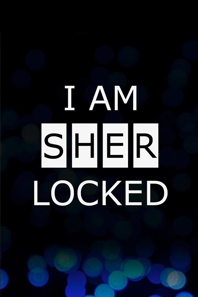 I Am Sherlocked Iphone 4 Wallpaper Am Sherlocked Wallpaper