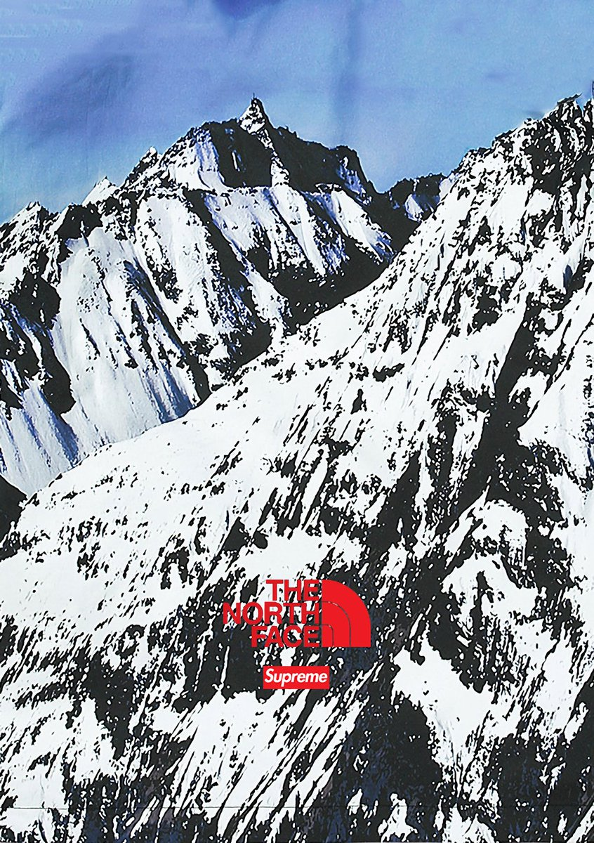 Supreme/the North Face Wallpaper For You Phone Pic - Supreme X North Face Mountain , HD Wallpaper & Backgrounds