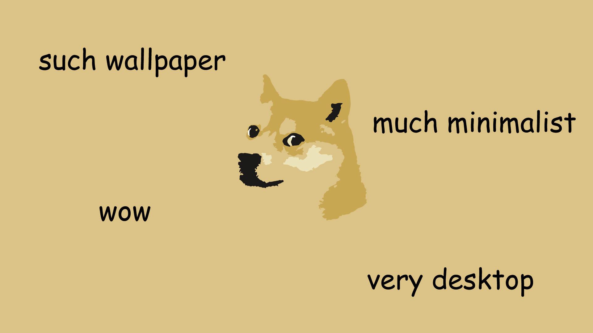 Minimalistic Doge Meme Wallpaper Desktop 1781473 Hd
