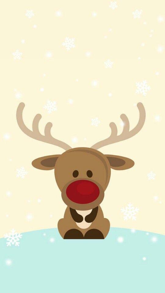 Rudolph Tjn - Cute Reindeer Christmas , HD Wallpaper & Backgrounds