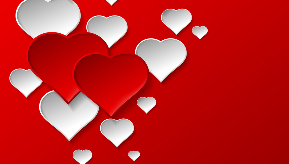 Love Background Red Hearts Romantic Hearts Design Happy