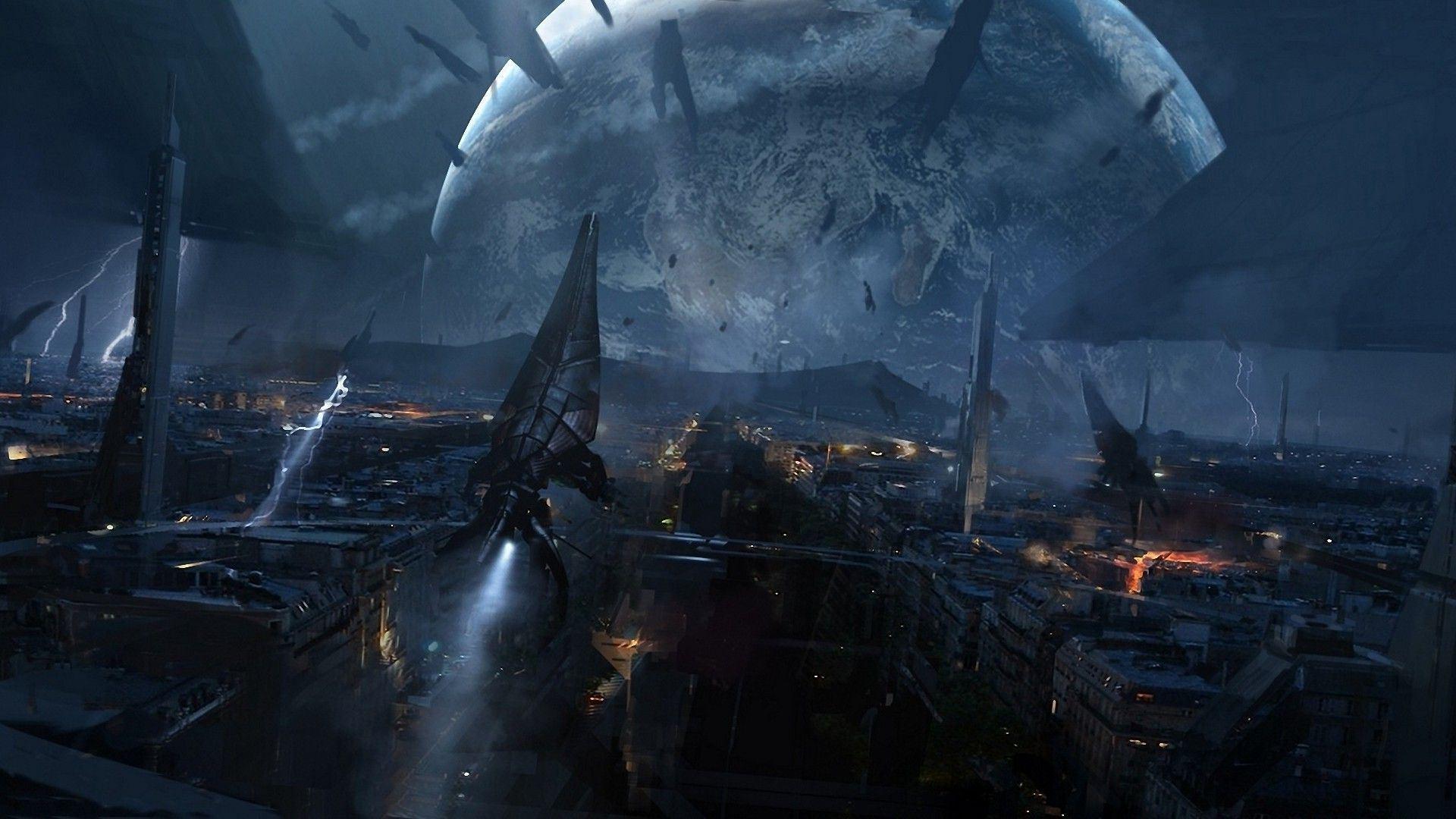 Mass Effect Wallpaper Hd Images Mass Effect Reaper Attack