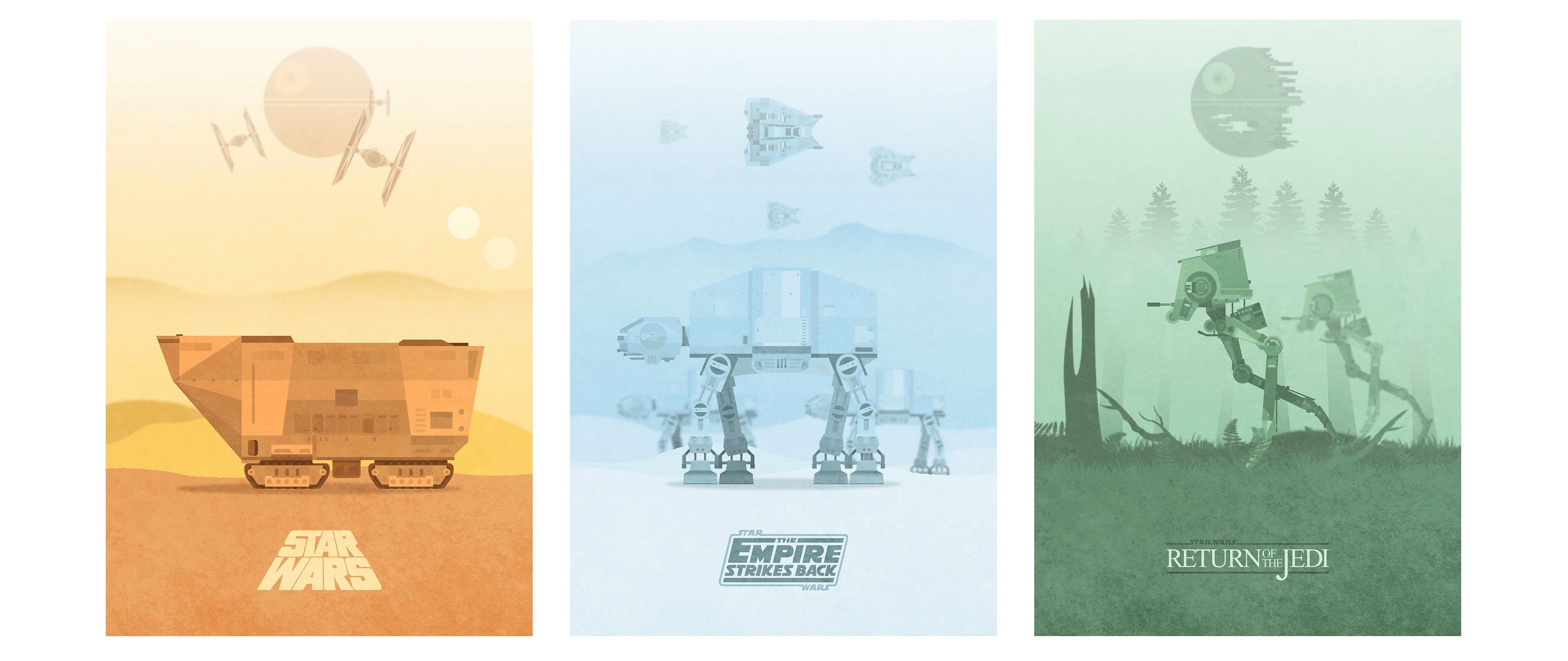 Jawas Star Wars Minimalism Film Posters Movie Poster