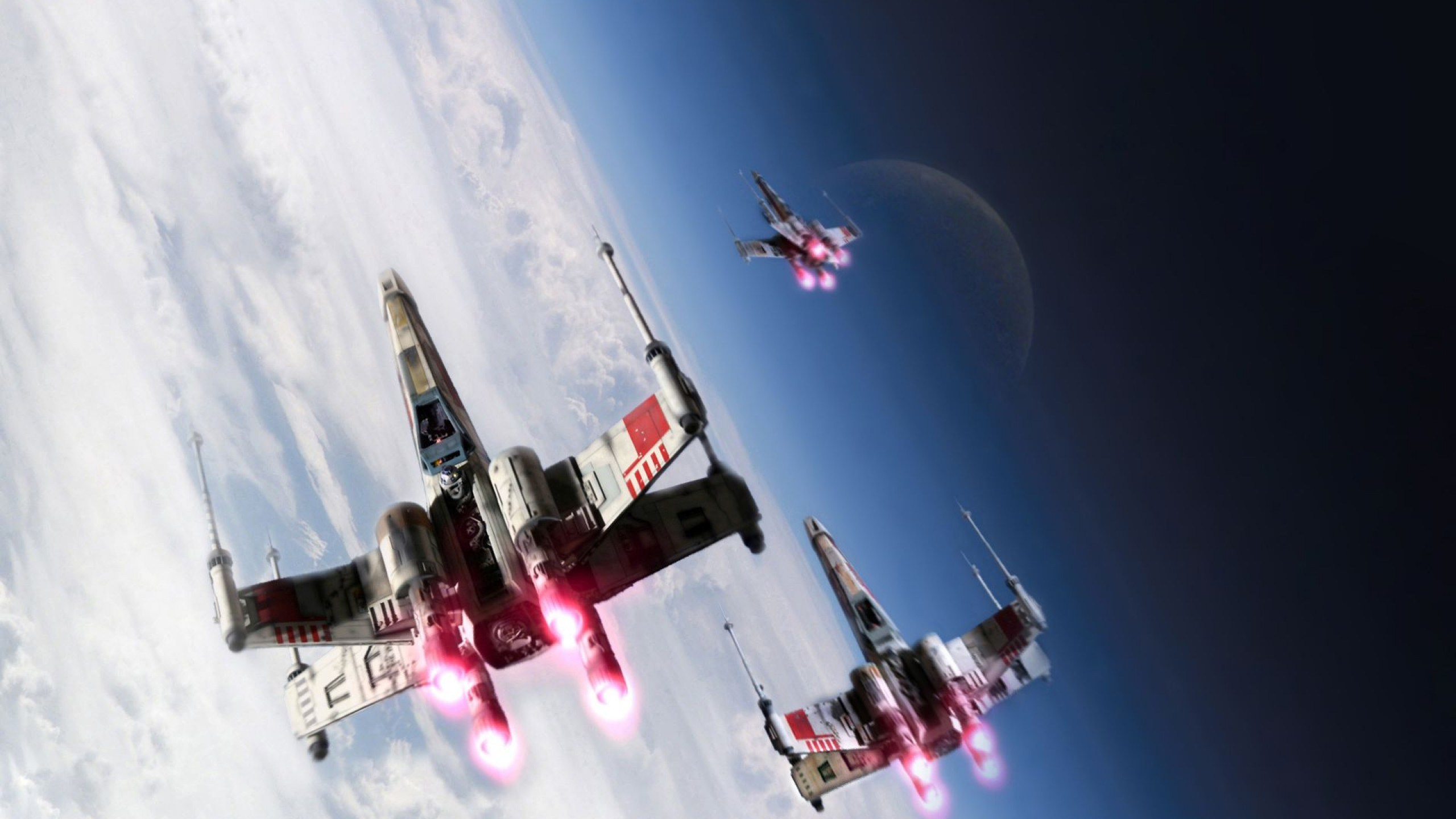 Star Wars X-wing Starfighter Over Planet Hoth Wallpaper - X Wing Fighter , HD Wallpaper & Backgrounds