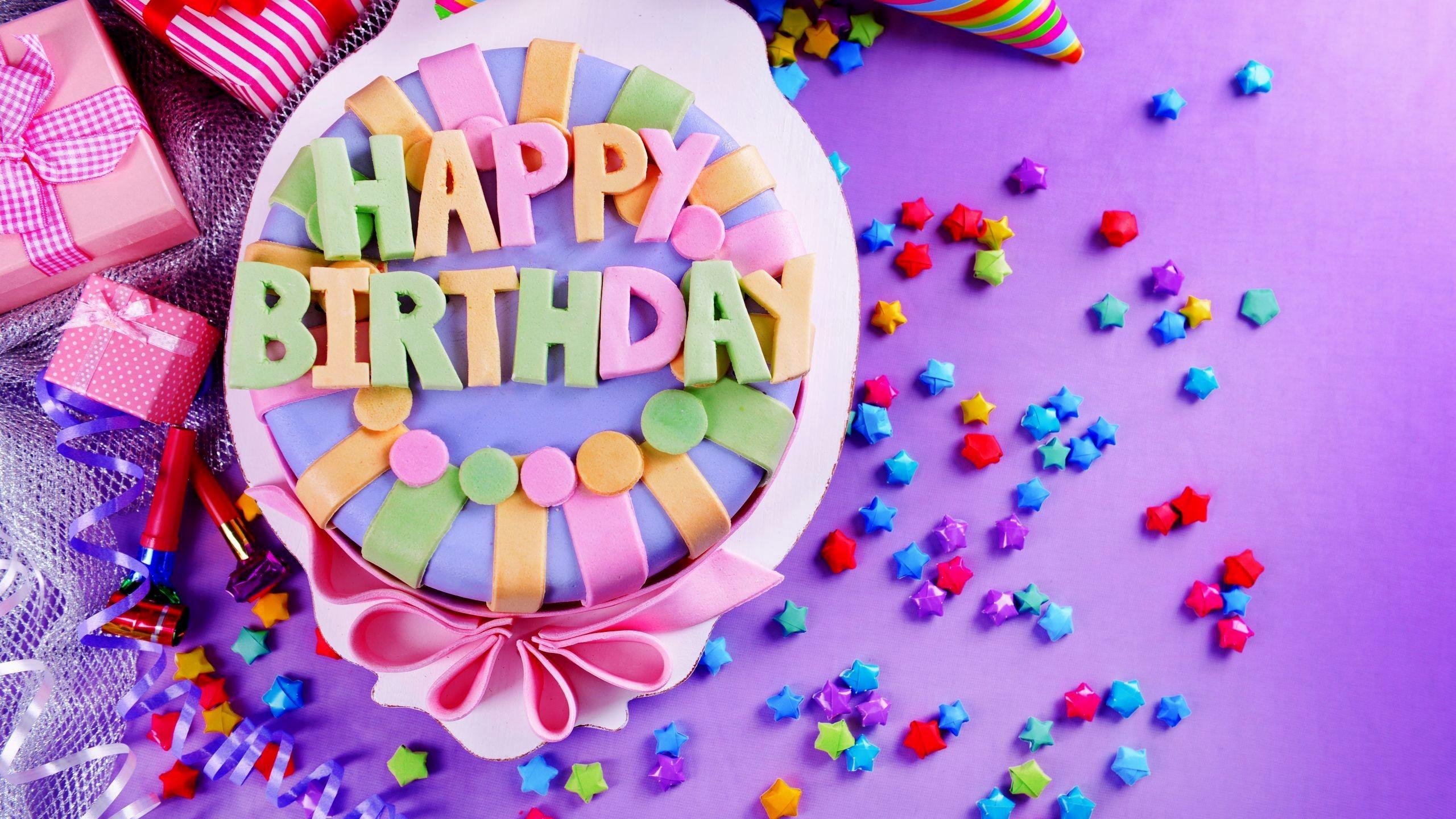 Happy - Cake Happy Birthday 4k , HD Wallpaper & Backgrounds