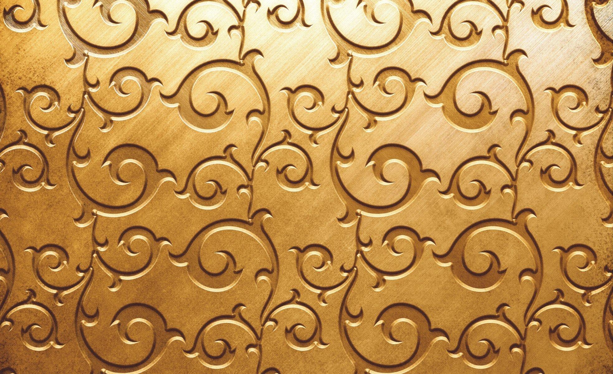 Textures Pattern Golden Color Golden Color Wallpaper