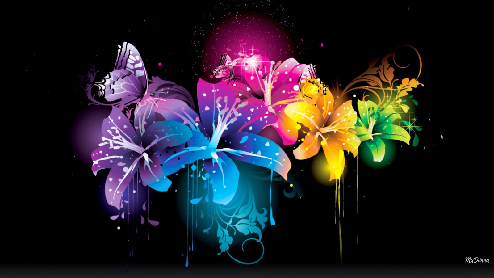 Glowing Flower Wallpaper Alan Walker Tired We Rabbitz
