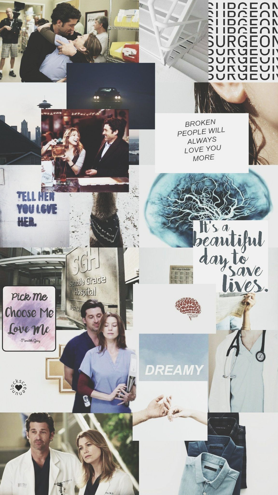 Greys Anatomy Wallpaper Iphone Meredith And Derek Papel