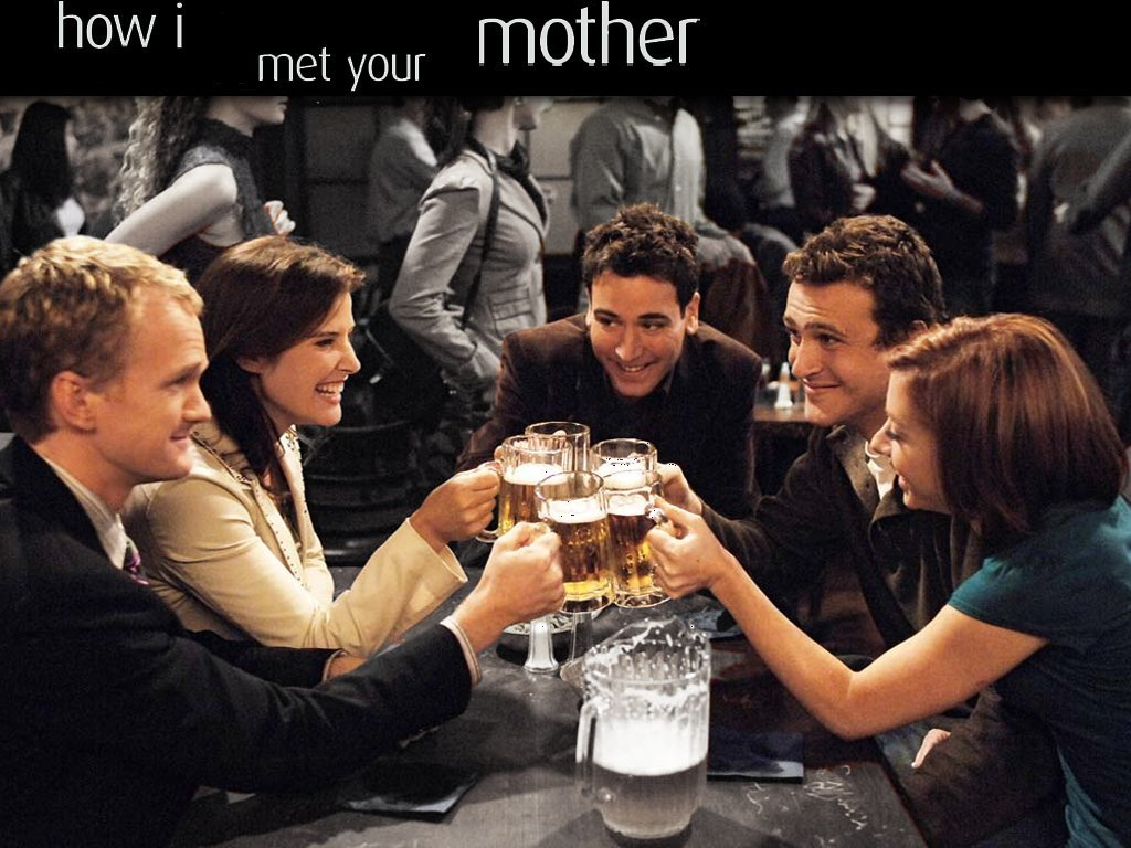 How I Met Your Mother Images The Group Hd Wallpaper - Met Your Mother Group , HD Wallpaper & Backgrounds