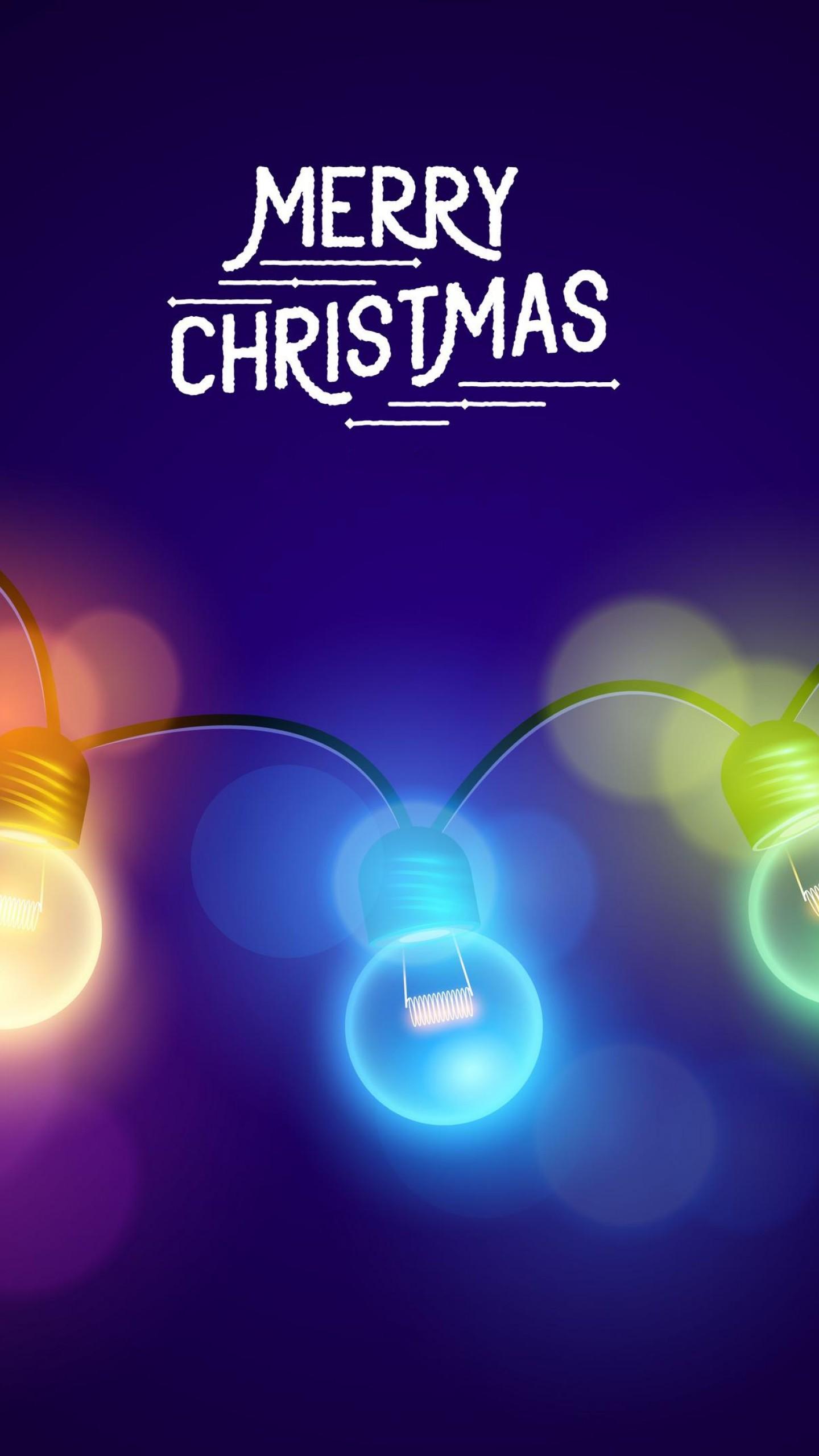 Merry Christmas Lights Iphone Wallpaper - Merry Christmas 1080 X 1920 , HD Wallpaper & Backgrounds