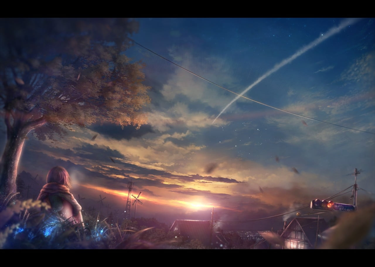 Your Name Wallpaper Anime Fantasy Art Sky Cloud Hd