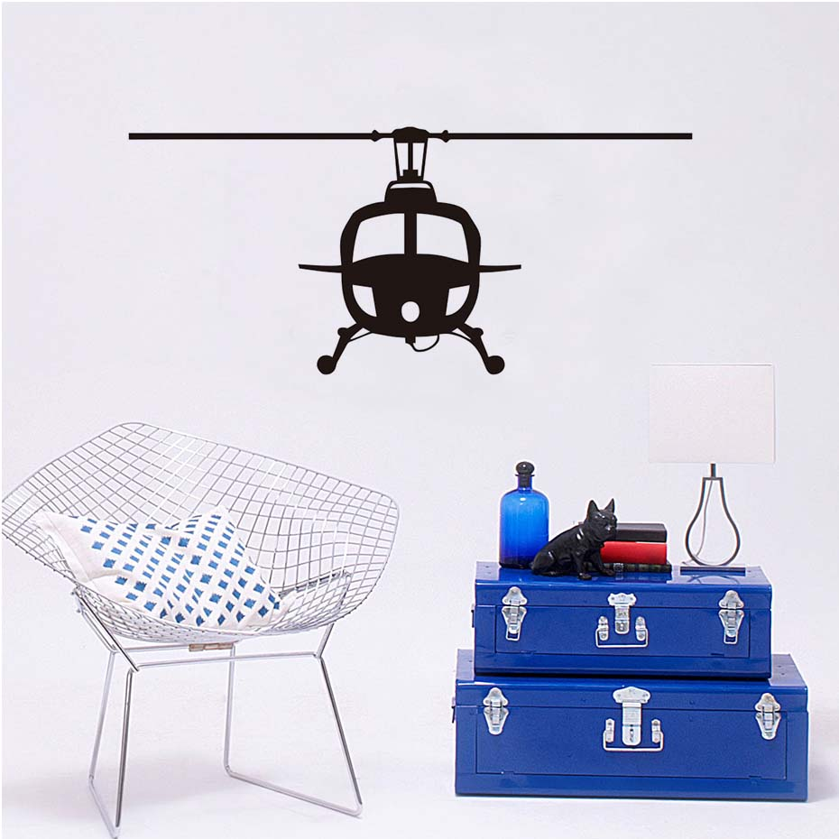 Vinyl Helicopter Aircraft Wall Sticker Pvc Hollow Out - Sticker , HD Wallpaper & Backgrounds