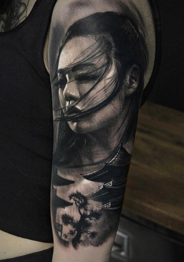 Amazing Full Back Japanese Tattoo Tatuagem Realista