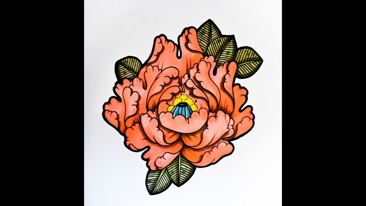 Ideas How To Draw A Flower Japanese Tattoo Style