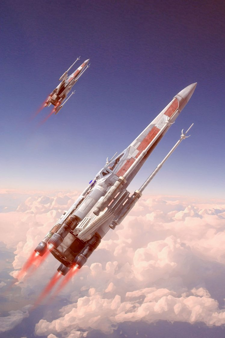 Portrait Display Artwork Fan Art Star Wars X Wing Star