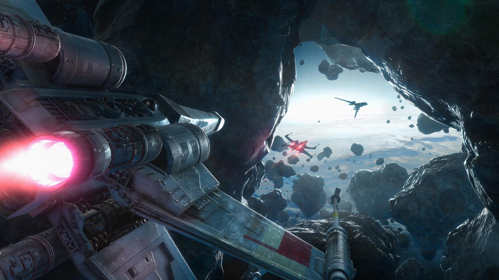 Aircraft Digital Wallpaper, Star Wars, Science Fiction, - Star Wars X Wing Rogue One , HD Wallpaper & Backgrounds