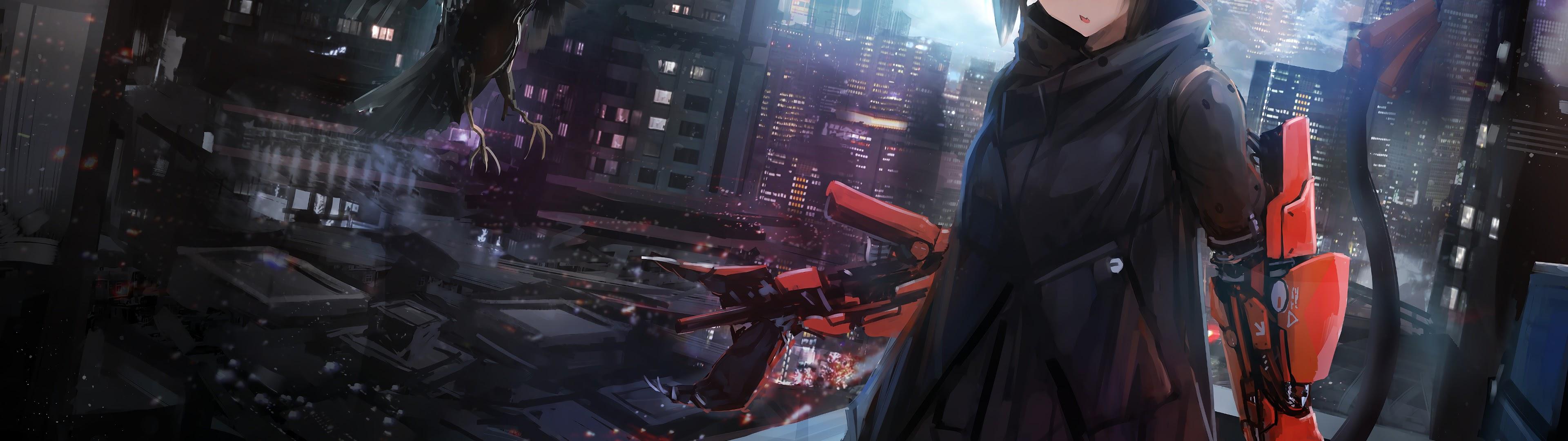 Dual Full Hd Sci Fi Anime Girl 1832422 Hd Wallpaper