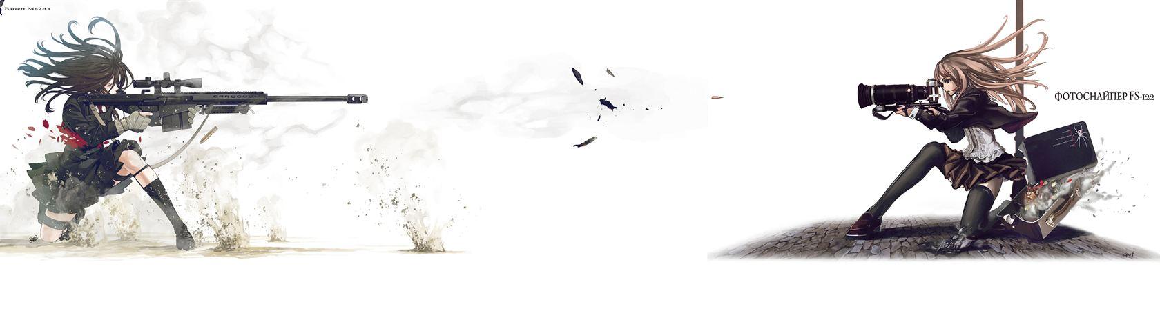 Gun Vs Camera 2048 X 1152 Anime 1832573 Hd Wallpaper
