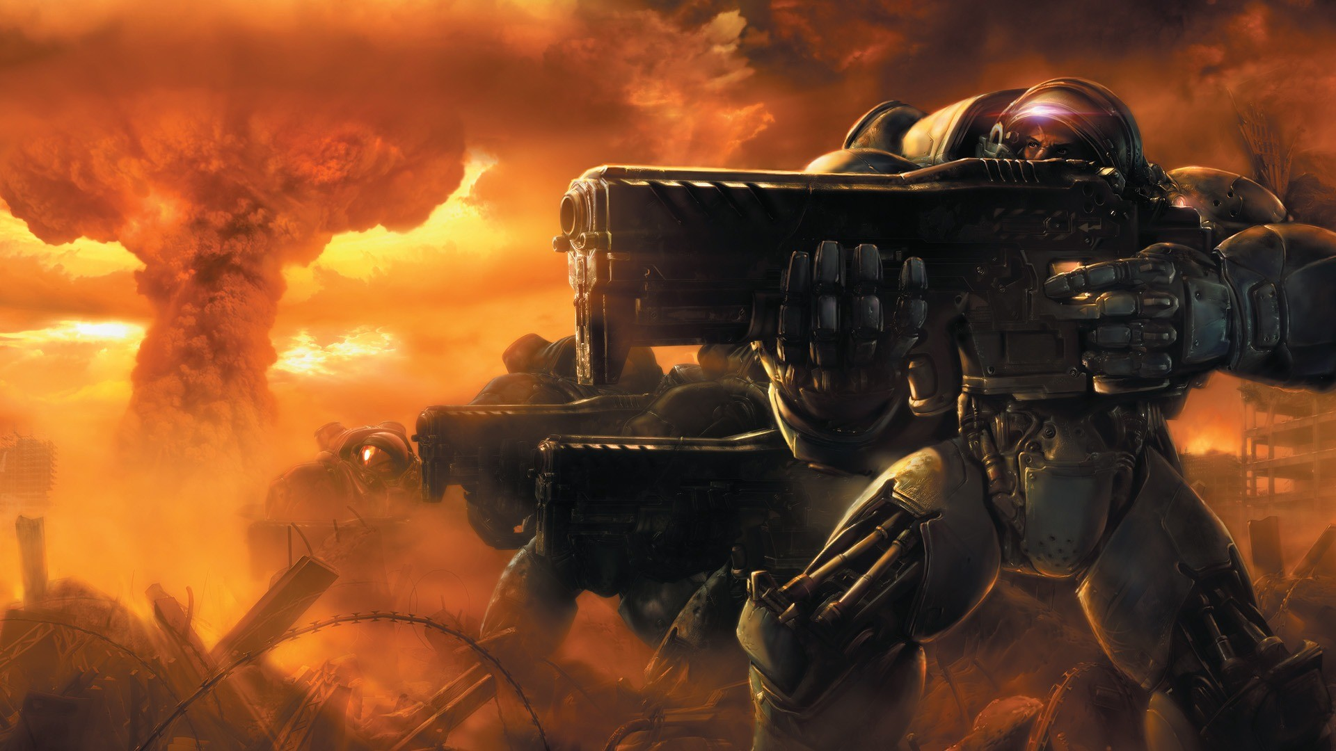 Starcraft 2-wallpaper - Starcraft 2 Wallpaper 1080p , HD Wallpaper & Backgrounds