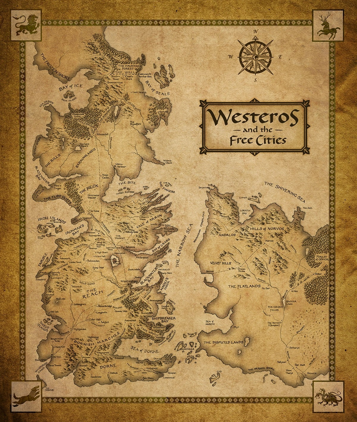 Fantasy Art Books Maps Game Of Thrones A Song Of Ice Mapa Game