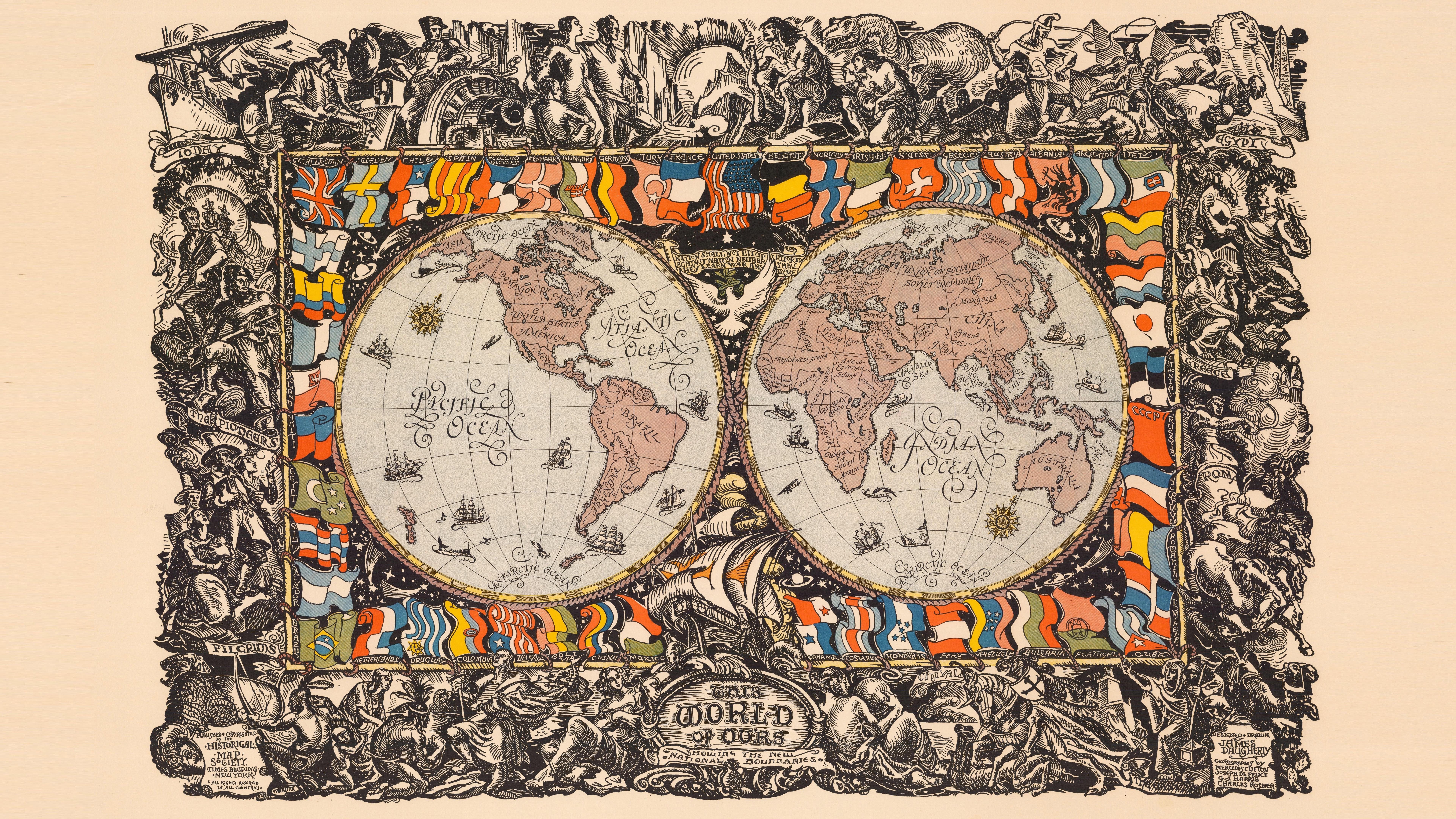 Old Map Dual Monitor Wallpaper World Map Art 1846581 Hd