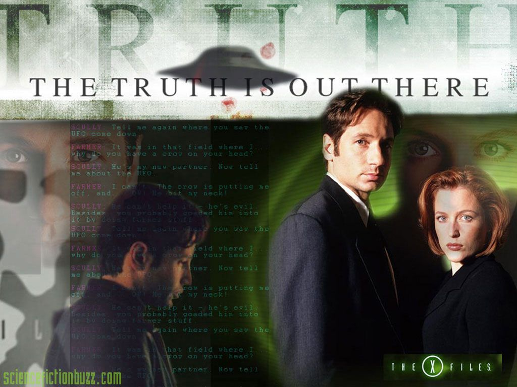 1024 X - Mulder And Scully The Truth Is Out There , HD Wallpaper & Backgrounds