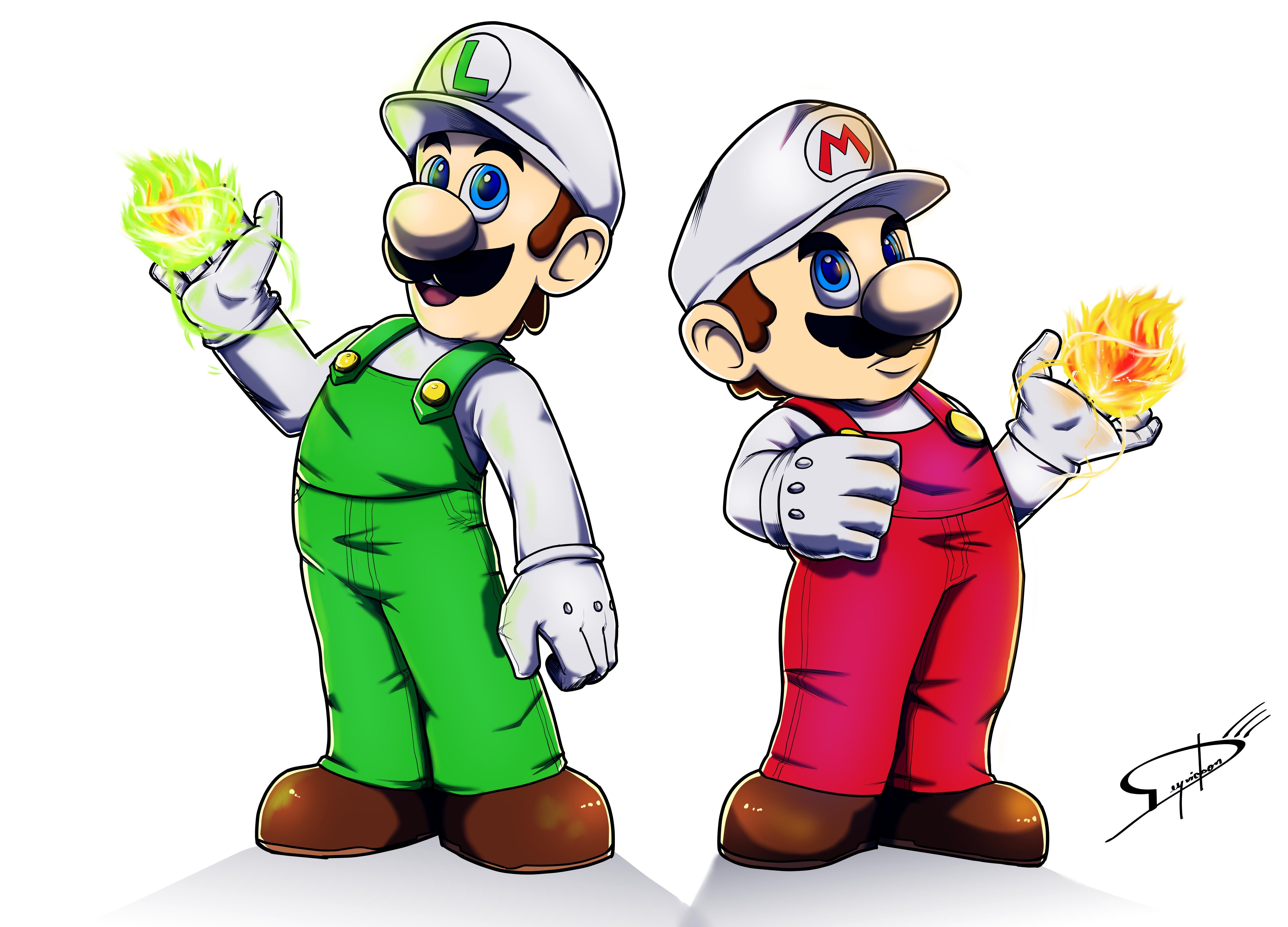 Mario Luigi Wallpaper And Background Cartoon 1849907