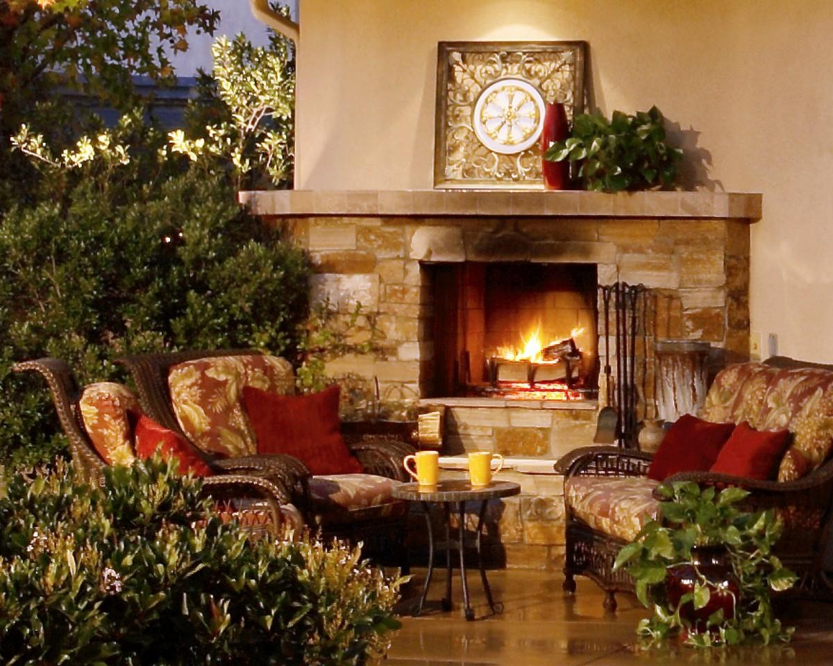Fireplace Living Room Warm Cozy Wallpaper For Desktop - Living Room , HD Wallpaper & Backgrounds
